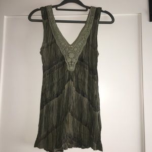 Green Urban Outfitters sleeveless blouse